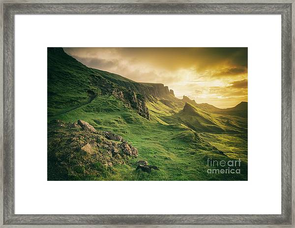 Quiraing Landscape 1 Framed Print
