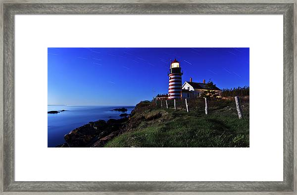 Quoddy Head By Moonlight Framed Print