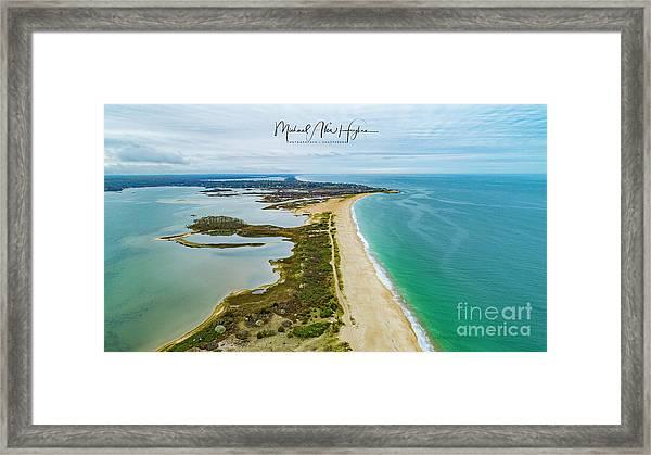 Quonochontaug Beach Framed Print