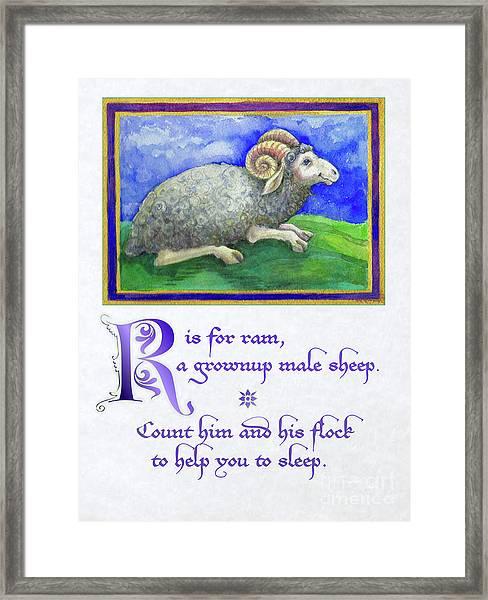 R Is For Ram Framed Print