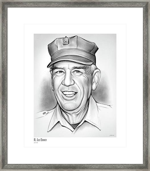 R. Lee Ermey Framed Print