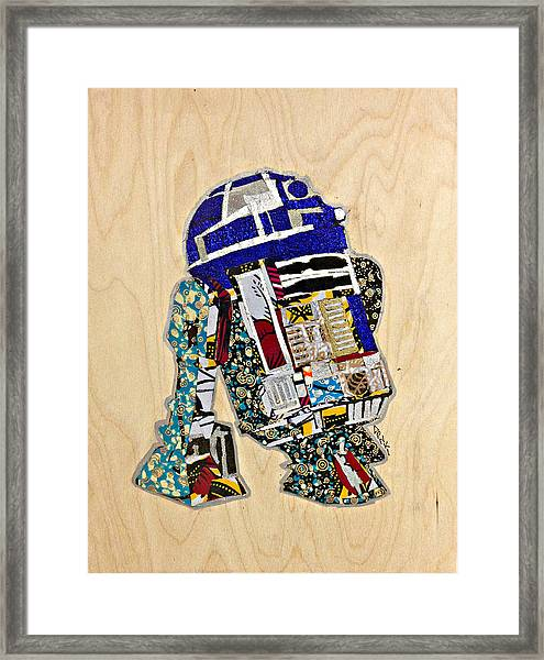 R2-d2 Star Wars Afrofuturist Collection Framed Print