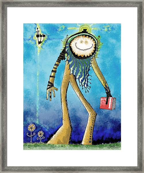 Rabbi Matzoh Head Framed Print