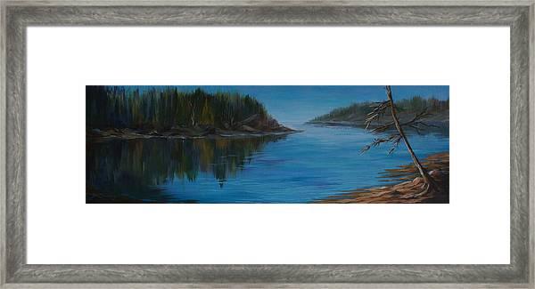 Rabbit Blanket Lake Framed Print