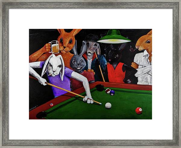 Rabbit Games Framed Print
