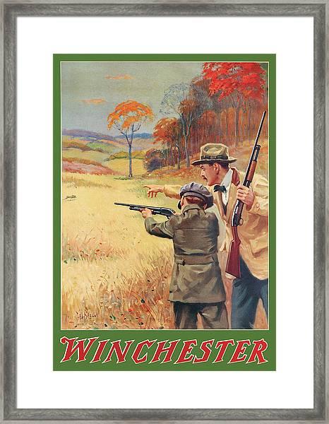 Rabbit Hunting Framed Print