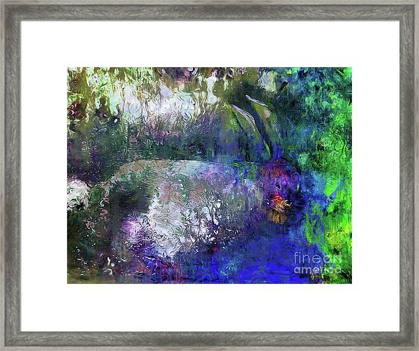 Rabbit Reflection Framed Print