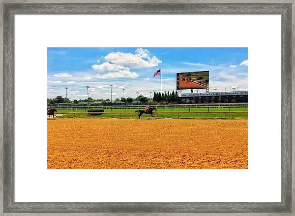 Race Day  Framed Print
