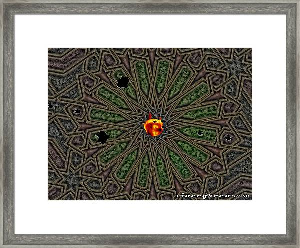 Race For Time In A Space Framed Print