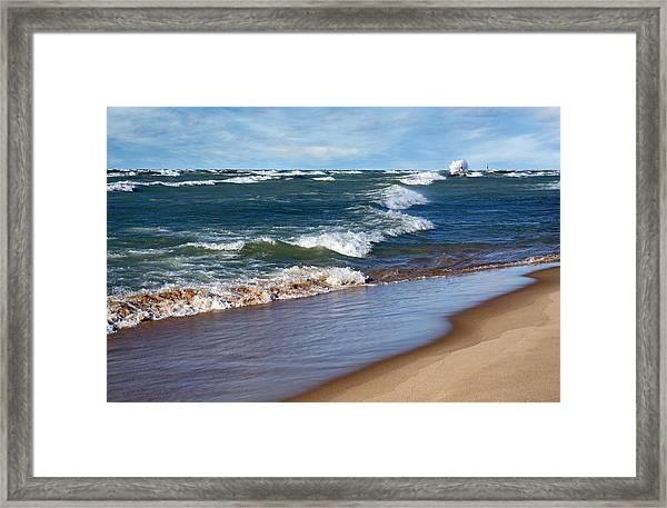 Race To Shore Framed Print