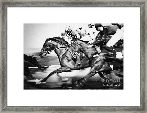 Racing Horses Framed Print