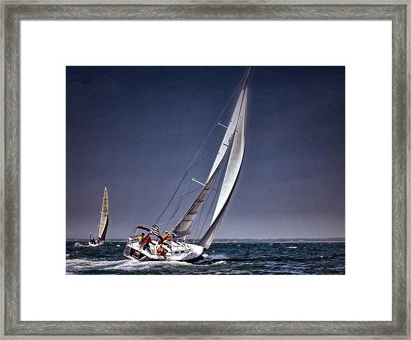 Racing To Nantucket Framed Print