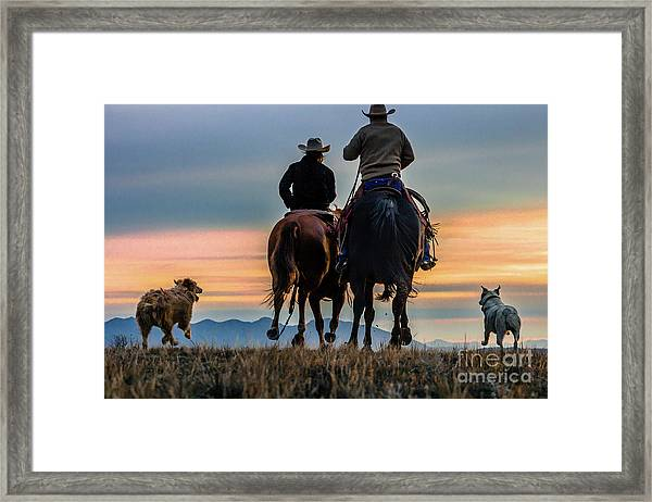 Racing To The Sun Wild West Photography Art By Kaylyn Franks Framed Print