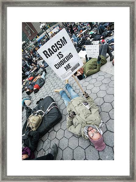 Racism Is Choking Me Framed Print