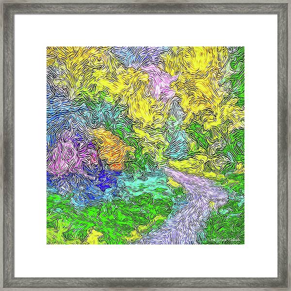 Radiant Garden Pathway - Trail Through Santa Monica Mountains Framed Print
