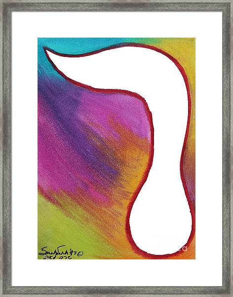 Radiant Resh Framed Print