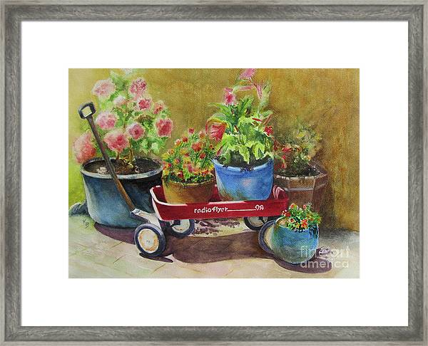 Radio Flyer Framed Print