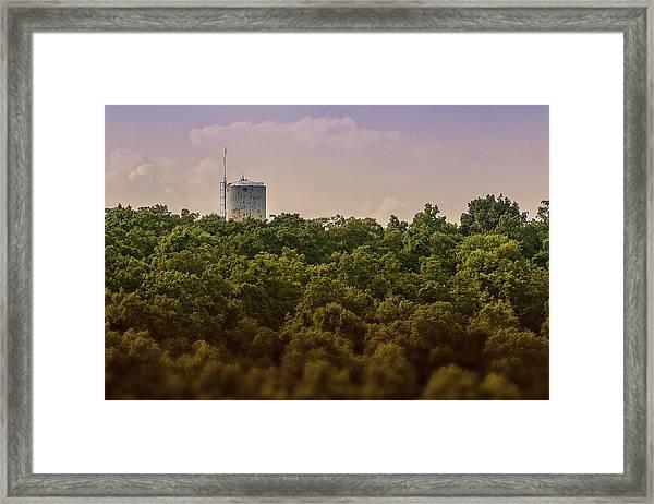 Radioactive Landscape Framed Print