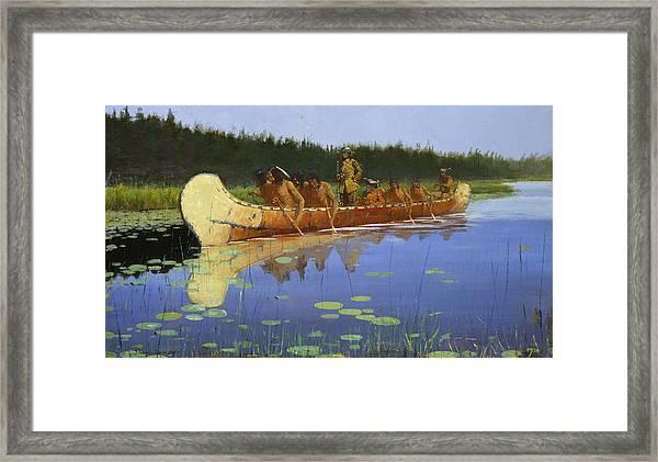 Radisson And Groseilliers Framed Print