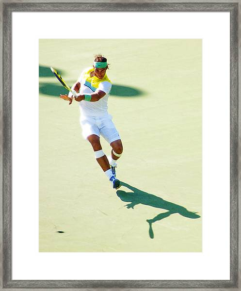 Rafael Nadal Shadow Play Framed Print