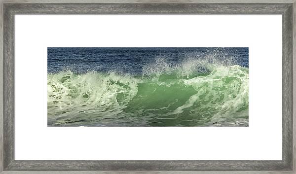 Raging Aqua Sea Framed Print by Paula Porterfield-Izzo