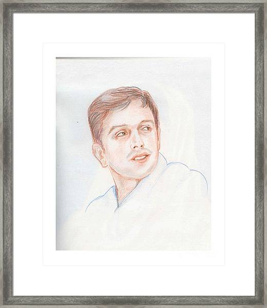 Rahul Dravid  Indian Cricketer Framed Print