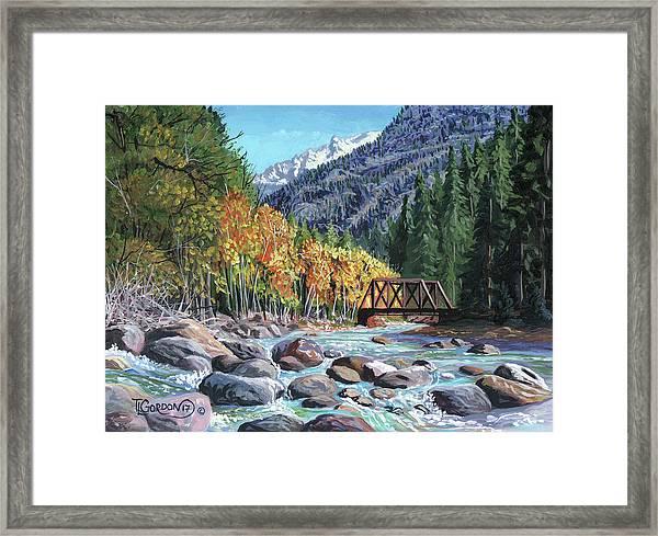 Rail Bridge At Cascade Framed Print