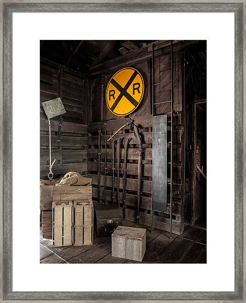 Rail Crossing Framed Print
