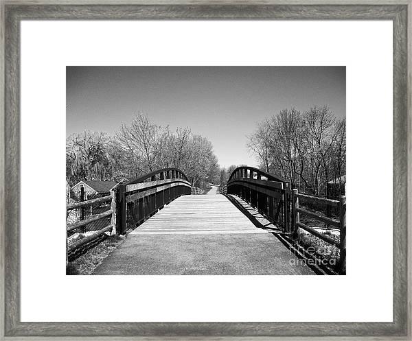 Rail Trail Bridge, Newburyport, Massachusetts Framed Print