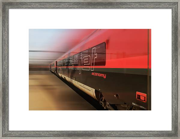 Railjet High Speed Train Framed Print