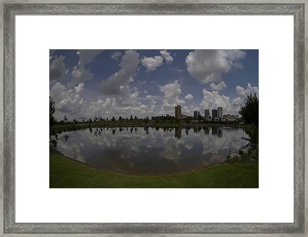 Railroad Park Reflection Framed Print