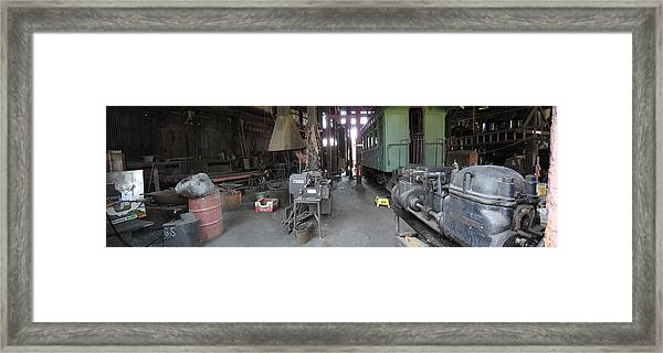 Railroad Shop Framed Print by Larry Darnell