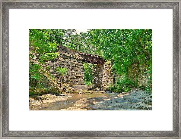 Railroad Tracks At Buttermilk/homewood Falls Framed Print