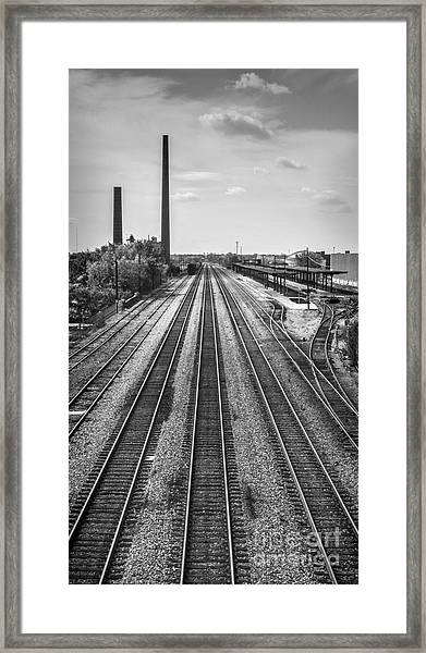 Rails Through Birmingham Framed Print