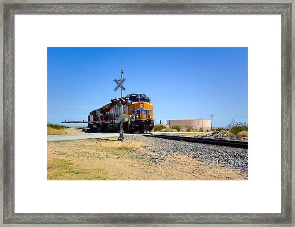 Railway Crossing Framed Print