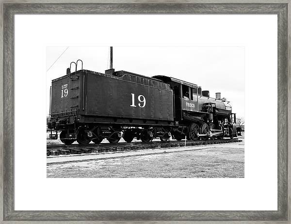 Railway Engine In Frisco Framed Print