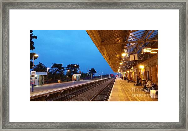 Railway Vanishing Point Framed Print