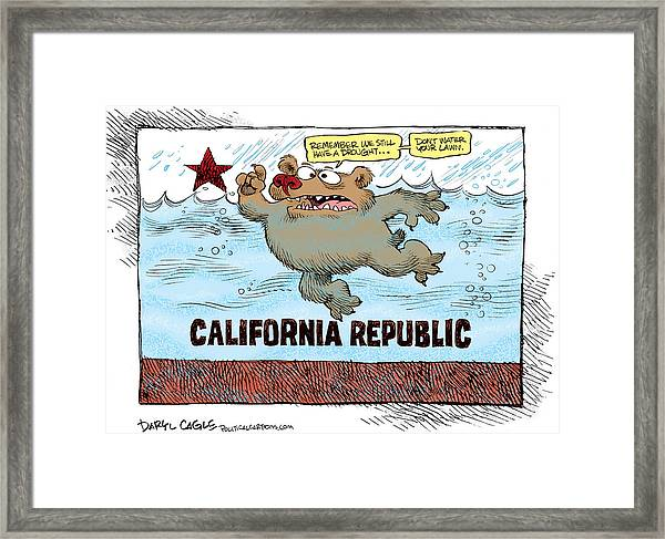 Rain And Drought In California Framed Print