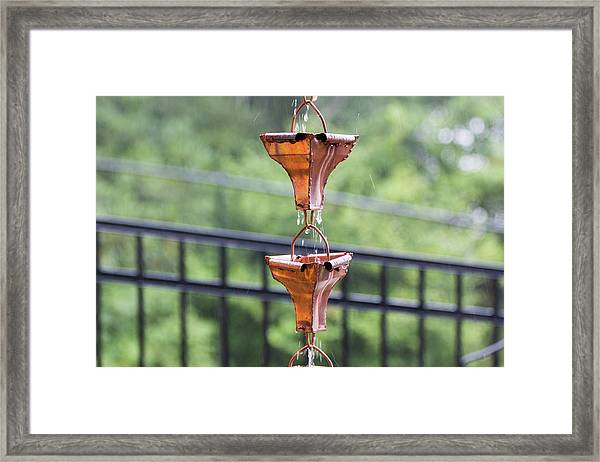 Framed Print featuring the photograph Rain Chains by D K Wall