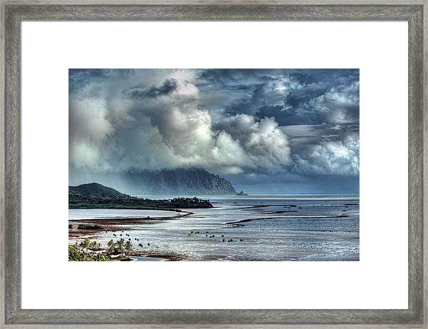 Rain Clearing Kaneohe Bay Framed Print