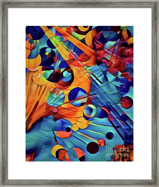 Rain Drops And Sun Rays Framed Print