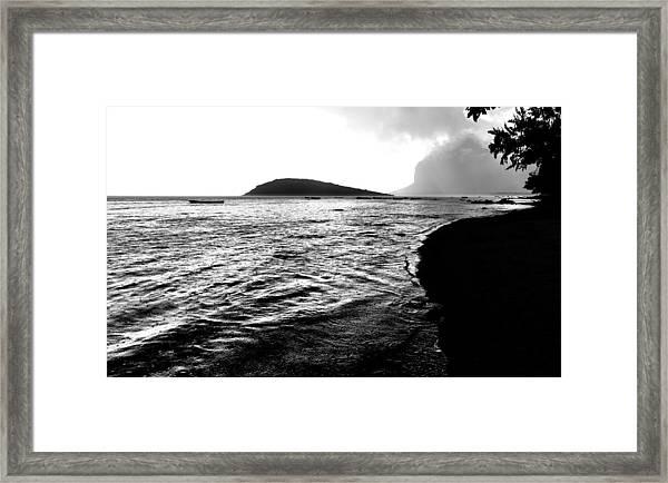 Rain On Sea And Shore Framed Print