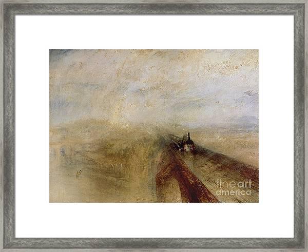 Rain Steam And Speed Framed Print