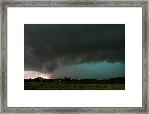 Rain-wrapped Tornado Framed Print