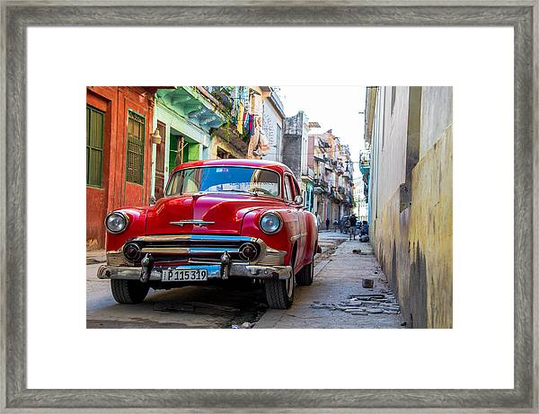 Rainbow Alley Framed Print