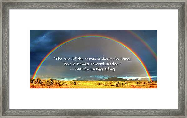 Martin Luther King - Justice Framed Print