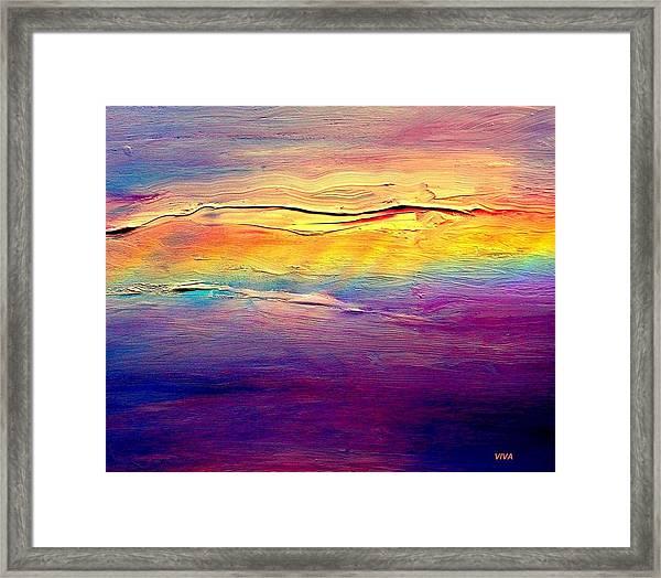Rainbow Clouds Full Spectrum -dedicated                     Framed Print