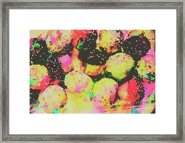 Rainbow Color Cupcakes Framed Print