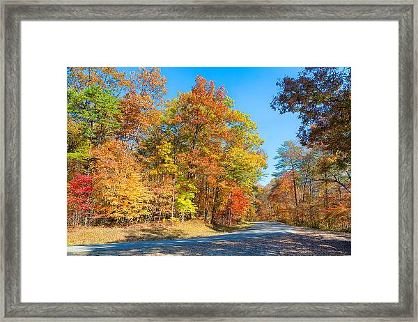 Rainbow Colored Drive Framed Print