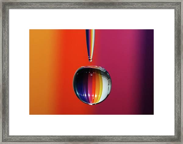 Falling Rainbow  Framed Print